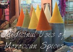 Moroccan spices are used for more than just flavoring food. They have been used for generations as medicine for a variety of ailments. Spice Blends, Spice Mixes, Natural Health Remedies, Holistic Remedies, Natural Cures, Moroccan Spices, Flavored Oils, Spices And Herbs, Medicinal Herbs