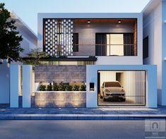 House goals exterior architecture for 2019 Duplex House Design, Modern House Design, Facade Design, Exterior Design, Front Wall Design, Townhouse Exterior, Independent House, House Elevation, Front Elevation