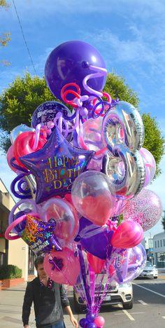 Worlds Best Bouquets — Worlds Best Balloons Balloon Drop, Love Balloon, Balloon Garland, Balloons And More, Helium Balloons, Balloon Decorations Party, Birthday Decorations, Congratulations Balloons, Birthday Goals