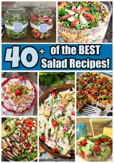 40+ of the BEST Salad Recipes - Kitchen Fun With My 3 Sons