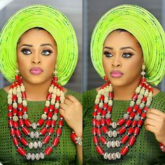 Greening with envy  @f_flakes glammed up by  MUA@zainabazeez  Neckpiece by @hrmsignaturebeads  #sugarweddings