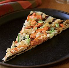 Grilled Pizza with Buffalo Chicken &Blue; Cheese, heaven on a plate?!