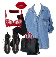 """""""Untitled #631"""" by annap-style ❤ liked on Polyvore featuring Balenciaga, La Perla, Yves Saint Laurent and Lime Crime"""
