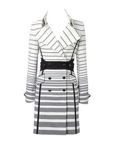 Karen Millen Graphic Stripe Coat