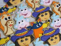Dora the Explorer Decorated Sugar Cookie Collection by MartaIngros, $30.00