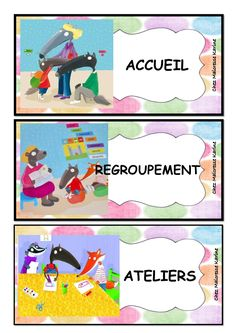 programme du jour loup.pdf - OneDrive Petite Section, Daycare Labels, School Organisation, French Classroom, Kids Corner, French Language, Programming, Back To School, Activities For Kids