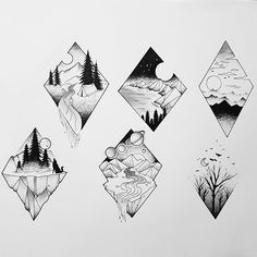 Ink Illustrations with a Meaning. Click the image, for more art by Mandy Razik. Cool Art Drawings, Pencil Art Drawings, Art Drawings Sketches, Tattoo Sketches, Easy Drawings, Art Sketches, Tattoo Drawings, Natur Tattoos, Geometric Nature