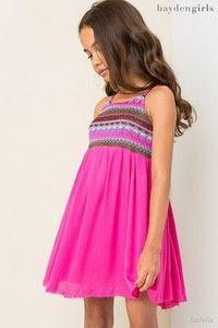 Hayden Spring Fuchsia Embroidered Tank Dress 821e57839