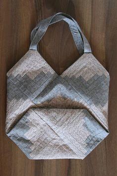 Log-Cabin blocks bag