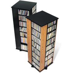 Accommodate your growing media collection with this 4-Sided Spinning Tower. With enough space to store over 800 of your CDs, this unit also spins to give you easy access from all sides.