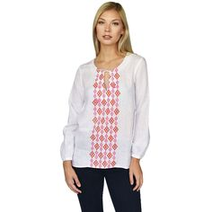 Jewel Embroidered Tunic (Rose)