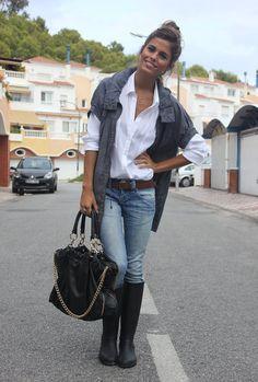 Rainy days  , Zara en Gabardinas, Pull & Bear en Camisas / Blusas, Zara en Bolsos, Zara en Jeans