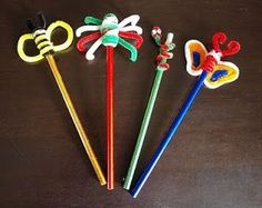 pipe cleaners pencil toppers