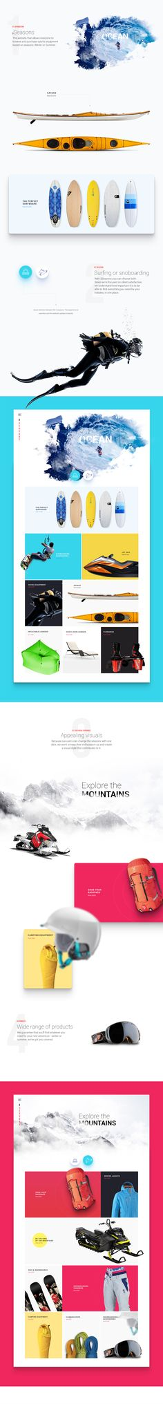 2 Seasons - A Web Design e-commerce project which allows the users to browse and purchase sports products based on the 2 seasons: Winter or Summer.
