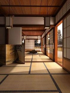 Japanese Home Design, Japanese Style House, Traditional Japanese House, Japanese Home Decor, Asian Home Decor, Traditional Interior, Japanese Homes, Japanese Plants, Japanese Colors