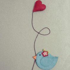 Kuş kitap ayracı ♥ felt