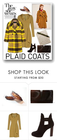"""Plaid Coat"" by danceofthesoul ❤ liked on Polyvore featuring Jil Sander, Emporio Armani, CÉLINE and Pink Tartan"