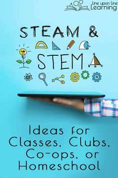 What an amazing list of STEAM or STEM projects for our homeschool co-op classes and STEM club! We love hands-on learning. Steam Education, Science Education, Science Experiments, Stem Classes, Stem Curriculum, Steam Learning, Stem Projects, Class Projects, Math Activities For Kids
