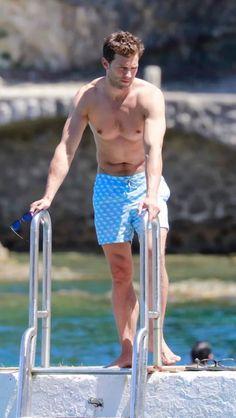 Jamie Dornan and his family in Cap Ferrat On July, 14 (x) Fifty Shades Movie, Fifty Shades Darker, Fifty Shades Of Grey, Jamie Dornan Ni, Jaime Dornan, Dakota Johnson, Mr Grey, Ferrat, Male Feet