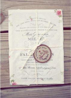 vintage huwelijksuitnodiging
