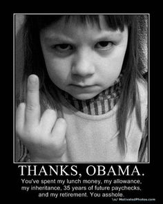 I don't condone the little tike flippin the bird, but I do like the dry wit