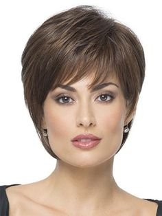 Cheapest Brown Straight Short Synthetic Wigs, Instant Wigs Synthetic Hair