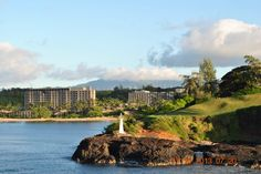 Entering Na'wiliwili Harbor, Kauai. That's Kalapaki Beach and the Kauai Marriott with stunning Kauai Mountains in the background.