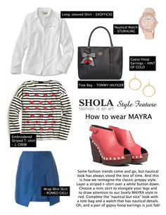 Nautical but nice. How would you style a pair of fab red heels?