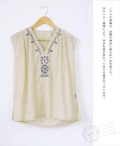 【楽天市場】【再入荷♪6月15日12時&22時より】(アイボリー)「mori」やさしい表情の草花刺繍トップス:cawaii