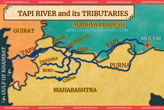 Master Tapti river & Tributaries Notes, River, Report Cards, Notebook, Rivers