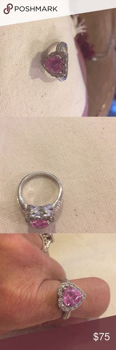 925. Sterling Silver. 925. Sterling Silver Size 7. Purchased From Kay  Jeweler. Valentine Special.