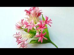 D.I.Y - How to make a paper flower - tulip Part 1 - Làm hoa tulip bằng giấy nhún - YouTube