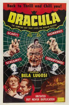 Vintage Dracula Movie Poster, 1931 - http://retrographik.com/dracula-movie-poster-1931/ - classic, dracula, frankenstein, horror, monster, movie, vampire