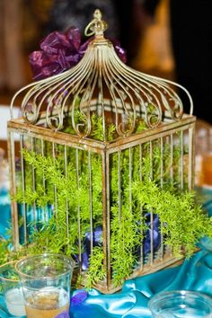 Wedding centerpiece birdcage