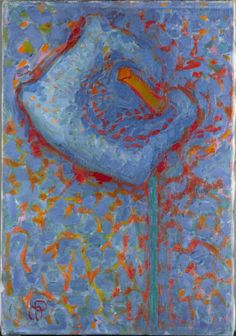 Piet Mondrian, Arum Lily, 1909/ 1910, Oil on canvas, 46 x 32 cm
