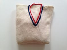 Vintage PREPPY Knitted Wool Sweater V-Neck LGG by BROCANTEBedStuy 72a7f304663d