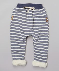 Another great find on #zulily! Charcoal Stripe Fleece Jogger Pants - Infant, Toddler & Kids #zulilyfinds
