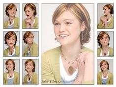 Julia Stiles hair idea. Good for me to have because we look pretty similar to eachother!
