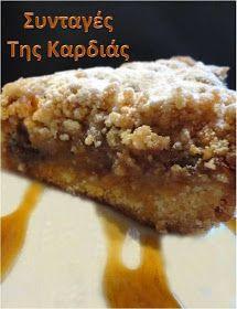 ΣΥΝΤΑΓΕΣ ΤΗΣ ΚΑΡΔΙΑΣ: Μηλόπιτα τριφτή Greek Sweets, Fruit Pie, Dessert Recipes, Desserts, Banana Bread, Recipies, Cheesecake, Cooking, Blog