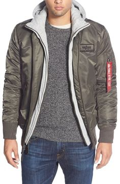 Alpha Industries 'D-TEC' MA-1 Bomber Jacket available at #Nordstrom
