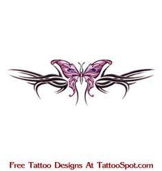 Lower Back Tattoos | ... / Free Lower Back Tattoo Designs / Lower Back Butterfly Tattoo