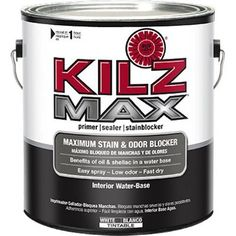 KILZ MAX Maximum Stain and Odor Blocking Interior Latex P...