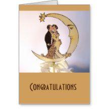 Wedding Cards:Vintage Moon Greeting Card