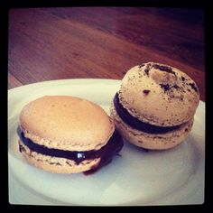 il Forno's Chocolate Toffee Macaroon (left) is a direct line to heaven... Ponsonby. Auckland.