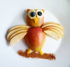 Apple Bird Snack for Kids - Crafty Recipes