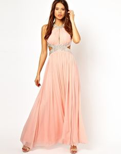 Forever Unique Halter Maxi Dress with Embellished Waist. I love sequins so much. For my ladies... :)