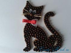 Imán del gato de café Nevera de granos de café con las manos 37