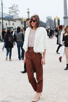 Street Style shot by Collage Vintage in Paris Fashion Week Fall 2013