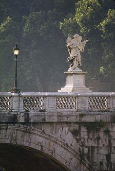 Ponte Sant'Angelo, Rome by josullivan.59, via Flickr can't wait to go back. amazing bridge