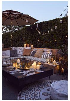 Outdoor Candles, Outdoor Decor, Outdoor Rooms, Terrasse Design, Backyard Patio Designs, Patio Ideas, Diy Patio, Backyard Ideas, Backyard Landscaping